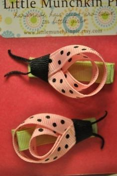 Ribbon ladybugs- make them for Brooke?
