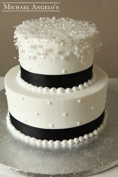 Pearl Overlay 61clic Tier Wedding Cakeswedding