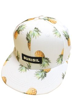 Pink Queen® Pineapple Snapback Flat Bill Hats Hip Hop Baseball Cap White ♥ Pin for later. Flat Bill Hats, Flat Hats, Painted Hats, Love Hat, Head Accessories, Cute Hats, Hip Hop Fashion, Snapback Hats, Types Of Fashion Styles