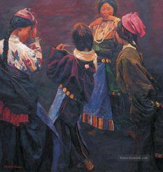 Chen Yifei - Tibetan Girl