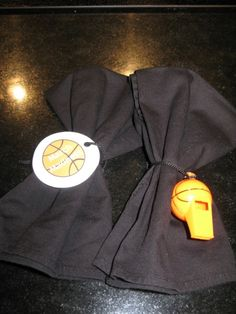 Napkin rings for march madness or basketball party