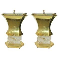 Gucci 1980s Striking Pair of Bronze Lamps
