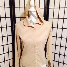 Quo Vadis Collection Hooded Top Quo Vadis Collection Hooded Button Up Blouse. This top looks great layered.  ➡️NO TRADES PLEASE DON'T ASK⬅️ Quo Vadis Tops Blouses