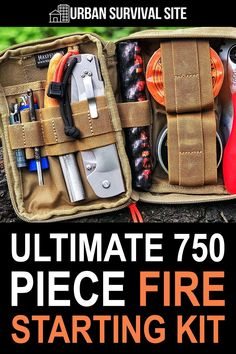 This 750-piece fire starting kit has everything you could possibly need to get a fire going quickly, even in bad weather. Urban Survival, Survival Food, Survival Gear, Survival Skills, Maxpedition Fatty, Get Home Bag, Pocket Pal, Survival Blanket, Bug Out Bag