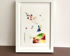 Baby Shower Gift, The Little Prince Painting, Original Watercolor, Girl Nursery Decor, New Baby Room Boho Nursery, Nursery Wall Art, Nursery Decor, Woodland Nursery, Girl Nursery, Room Decor, Safari Nursery, Nursery Ideas, Watercolor Paintings Nature