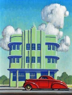 "Daily Paintworks - ""Miami Deco"" - Original Fine Art for Sale - © Robert LaDuke"