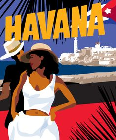 Havana Dancers on El Malecon, Cuba Poster