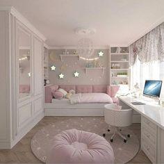 15 Cute Bedroom Ideas for Girls - Cool Bedroom Design Cute Bedroom Ideas, Cute Room Decor, Girl Bedroom Designs, Baby Decor, Bedroom Ideas For Girls, Ideas For Small Bedrooms, Awesome Bedrooms, Bed Ideas, Design Bedroom