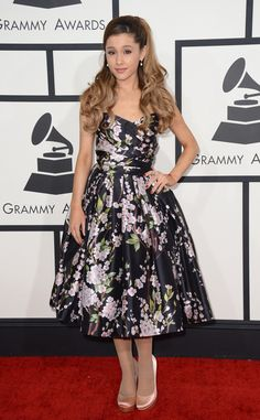 Ariana Grande in Dolce & Gabbana from 2014 Grammys: Red Carpet Arrivals | E! Online