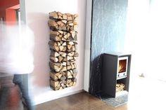 Radius Design Wood tree, seinäkiinnitteinen halkoteline, iso