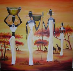 We think we got the perfect ideas for you, here! Africa Painting, Oil Painting Abstract, Woman Painting, Style Africain, Art Africain, Black Women Art, Black Art, African American Artwork, Afrique Art