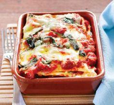 Pumpkin and spinach individual lasagnes | Healthy Food Guide