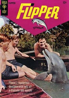 FLIPPER had been a successful family movie and then a reasonably popular TV series since Gold Key put out two issues of FLIPPER i. Vintage Comic Books, Vintage Tv, Vintage Comics, My Favorite Year, Old Comics, Old Shows, Great Tv Shows, Cartoon Tv, Comic Book Covers