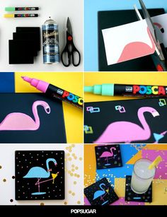 You'll Love the Way These Dapper Flamingo Coasters Look on Your Coffee Table