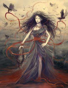 Day12 - Morrigan by `Adelaida on deviantART