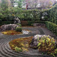 Bild könnte enthalten: Pflanze, Baum, im Freien, Natur und Wasser Kyoto, Zen Rock Garden, Stepping Stones, Instagram, Outdoor Decor, Design, Outdoor, Tree Structure, Water