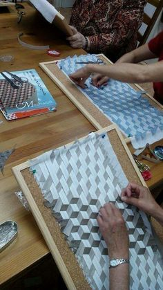Woven tumbling blocks...cool!