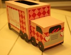 tissue boxes turned truck