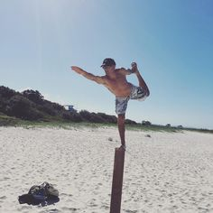 Instructor Werner doing some Yoga at our local Currumbin beach#4thdan #blackbelt #currumbinbeach #yoga #taekwondo #tanscurrumbin by tanscurrumbin http://ift.tt/1X9mXhV