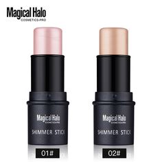 Magical Halo Concealer Sticks Highlighting Powder Creamy Silver Gold Shimmer Bronzer Highlighter Makeup For Face Repair Flawles