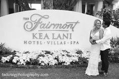 Beautiful place for a Honeymoon at the Fairmont Kea Lani in Maui~ Hawaii.  Photo by www.TadCraigPhotography.com
