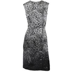 Lanvin Sleeveless Rhinestone Print Dress ($1,155) found on Polyvore