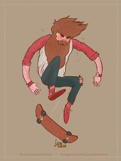 Skater guy ³ on Behance Character Concept, Character Art, Concept Art, Character Design, Character Illustration, Illustration Art, Animation Mentor, Cool Anime Guys, Skate Art