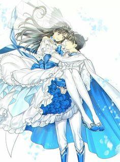 Image about love in Anime Romance 💖💖💖 by ~ Mira ~ ♥️ Magic Kaito, Detective Conan Ran, Detective Conan Shinichi, Ran And Shinichi, Kudo Shinichi, Conan Comics, Detektif Conan, Tomoyo Sakura, Persona Anime