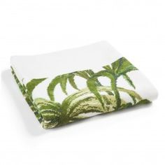 PALMERAL White / Green Hand Towel_1