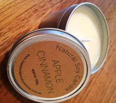 Love apple and cinnamon! Natural Products, Soy Candles, Beautiful Hands, Apple, Cinnamon, Handmade, Travel, Shop, Apple Fruit