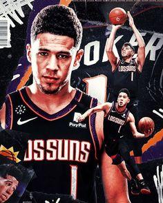 "LV | Sports Designer on Instagram: ""Artwork for @dbook ☀️ • • Will the Suns finally make the jump to the playoffs next season? • • #basketball #bball #sportsart #devinbooker…"" Booker Nba, Devin Booker, Mvp Basketball, Football, University Of Ky, Basketball Highlights, D Book, Sports Magazine, Sports Graphics"