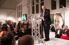 Founding Sponsor Dick Lester announcing the winner of the $45,000 Lester Prize  2013 Major Award Night - BlackSwanPrize for Portraiture. This art exhibition, held in the heart of Perth, featured 40 stunning portraits by Australia's finest portrait artists.  Artists were vying for the $45,000 Lester Prize and the $7,500 People's Choice Prize. #portraiture, #art, #prize, #blackswanprize, #archibaldprize, #painting, #perth, @blackswanprize