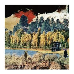 Autumn - from series 'postcards of a wandering mind' - collage art by livingferal