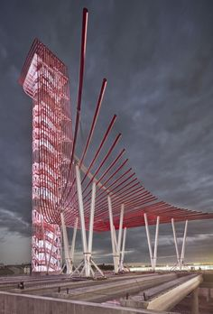 Circuit of the Americas Observation Tower and Austin 360 Amphitheater   Photo: Paul Finkel.   Bustler