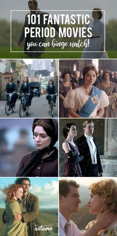 101 of the best period movies, period drama, historical romance movies and more! romance movies 101 fantastic period movies you're gonna want to binge watch Best Period Movies, Period Romance Movies, Best Period Dramas, Best Dramas, Period Piece Movies, Drama And Romance Movies, Comedy Drama Movies, Romance Movies Best, Good Movies