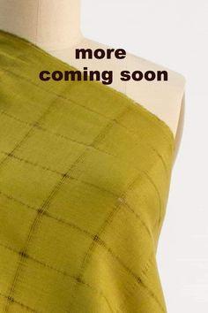 Churlish Green Linen Woven Green