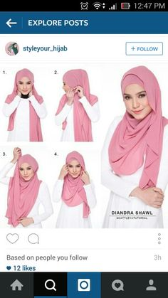 Gorgeous Summery Hijab Tutorial - Hijab Fashion Inspiration This is a cute easy. Gorgeous Summery Hijab Tutorial – Hijab Fashion Inspiration This is a cute easy hijab tutorial f Tutorial Hijab Pesta, Simple Hijab Tutorial, Hijab Style Tutorial, Scarf Tutorial, Hijab Musulman, Muslim Hijab, Hijab Chic, Mode Hijab, How To Wear Hijab