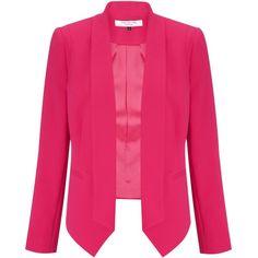 COLLECTION by John Lewis Amaris Jacket, Flamingo (1,265 MXN) ❤ liked on Polyvore featuring outerwear, jackets, blazers, coats, coats & jackets, long jacket, tailored blazer, pink jacket, long sleeve jacket and long sleeve blazer