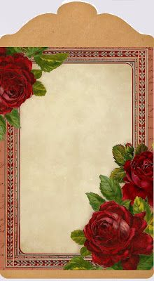 Romantic Red Roses ~ little gift tag