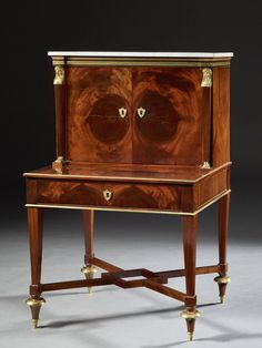 Tables Diplomatic Pair Antique French Regency Style Demi Lune Marquetry Cherub Home Console Tables