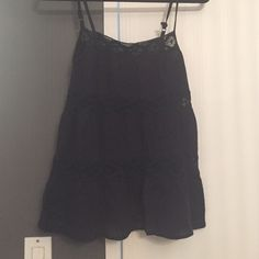 Black top Flowy top H&M Tops Tank Tops