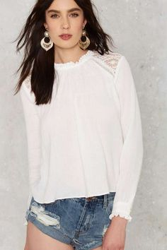 Shirring is Caring Lace Top - Sale
