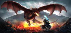 Dragon Scene by Oana-D.deviantart.com on @DeviantArt