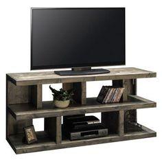 Tv rack holz  Tv-Rack Weiss Matt/ Asteiche Massiv Woody 41-02602 Holz Modern ...