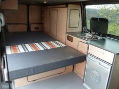 T4 Camper Interior Ideas, Campervan Interior, Small Camper Vans, Small Campers, Transit Camper, Vw Camper, Vw T5, Volkswagen Bus, Motorhome