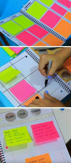 School Inspired DIY Colorful Planner - DIY Back to School Organization Hack for . - School Inspired DIY Colorful Planner – DIY Back to School Organization Hack for Kids and Teens of - School Supplies Organization, Diy School Supplies, Organization Hacks, Back To School Organization For Teens, Back To School Ideas For Teens, Tumblr School Supplies, Diary Ideas For Teens, Organizing School, School Supplies Highschool