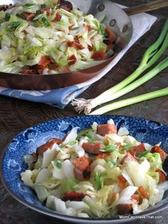 Super Easy Sausage and Cabbage is my go-to meal. Want a fast week night meal? Look no further! | Low carb, Gluten-free, Dairy-free, Paleo | https://lowcarbmaven.com
