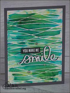 "Karte ""you make me smile"" mit Mama Elephant und Brusho | fraeulein-nebel.org"