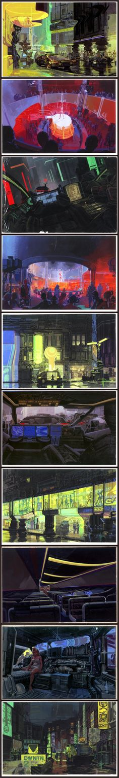 Original illustrations of Blade runner by Syd Mead
