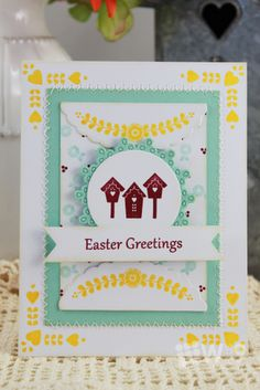 Dawn Woleslagle for Wplus9 featuring Spring Tags stamp set.